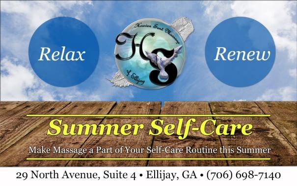 Summer Self-Care | Make Massage a Part of Your Self-Care Routine this Summer | Heaven Sent Massage of Ellijay | Ellijay Georgia (GA) 30540