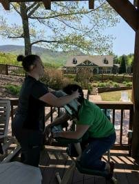 Chasity Green | Chair Massage at 9th Retreat in Jasper | Thumbs Up Mission | Keaton Franklin Coker Foundation | Gainesville, GA