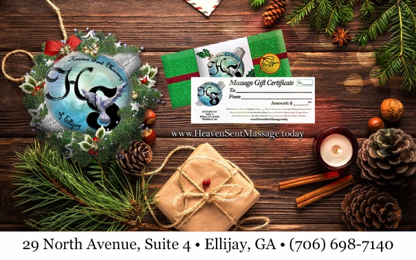 Holiday Christmas Gift Certificates Available | Massage Therapy | Heaven Sent Massage of Ellijay | Ellijay Georgia (GA) 30540