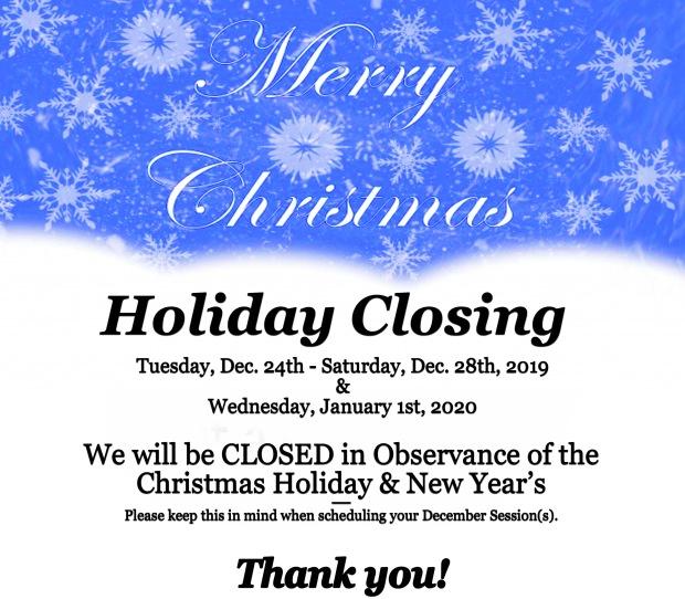 Holiday Closing | Christmas Closings | Massage Therapy | Heaven Sent Massage of Ellijay | Ellijay Georgia (GA) 30540