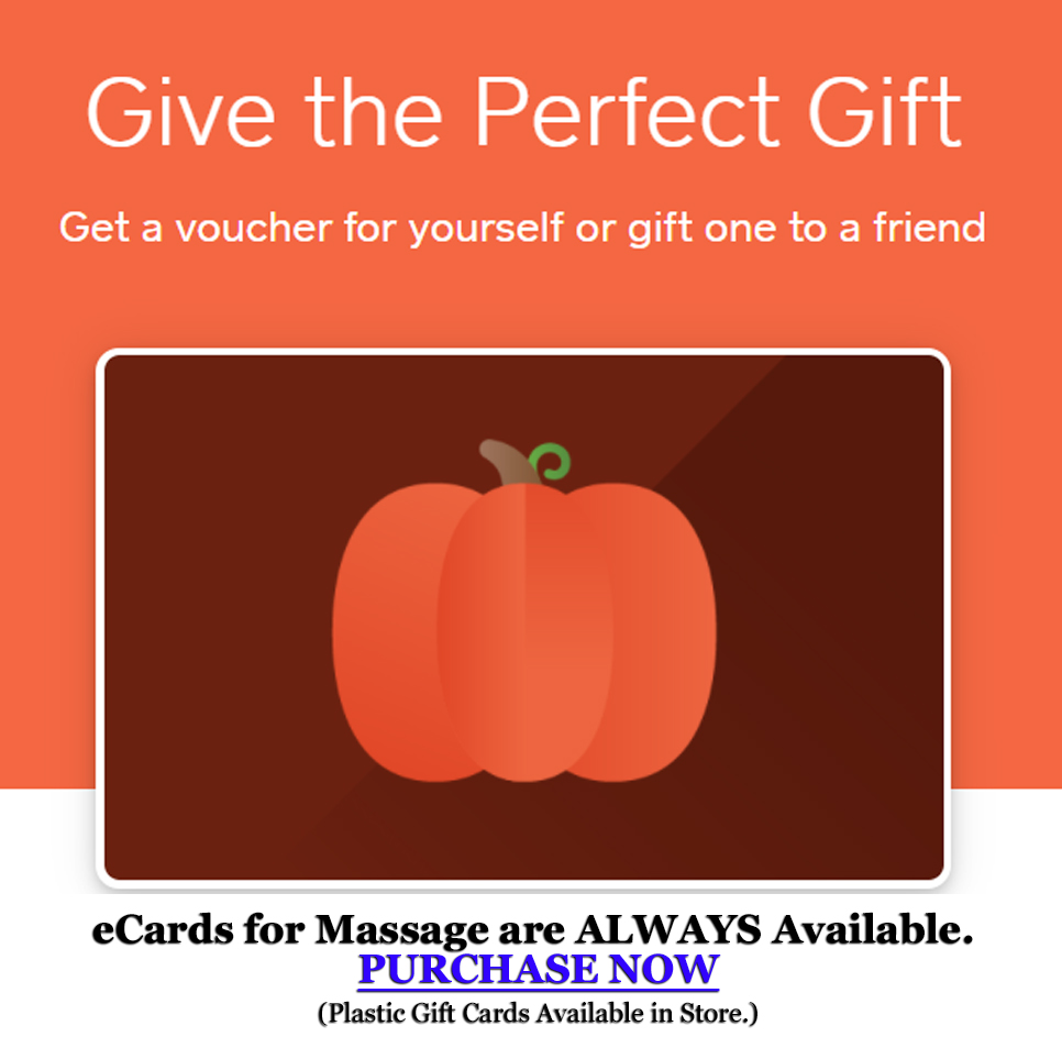 Give the Perfect Gift - Purchase eCards for Massage